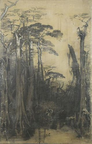 CONWAY, John. Charcoal on Canvas Study. Forest