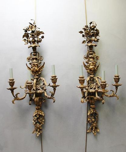 Pair of Fine Quality and Highly Carved Antique