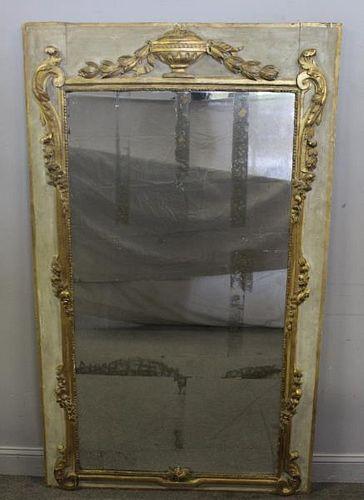 18th Century French Trumeau Mirror.