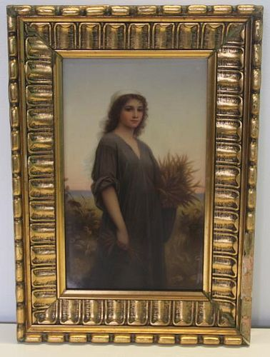 KPM Signed Porcelain Plaque of 'Ruth'.