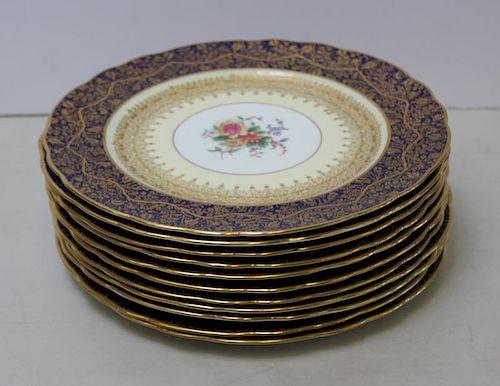Set of 11 George Jones & Sons Service Plates.