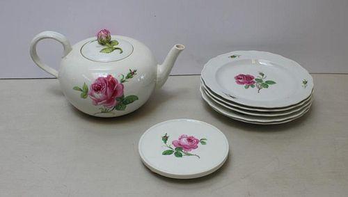 MEISSEN. 7 Pieces of Signed Porcelain.