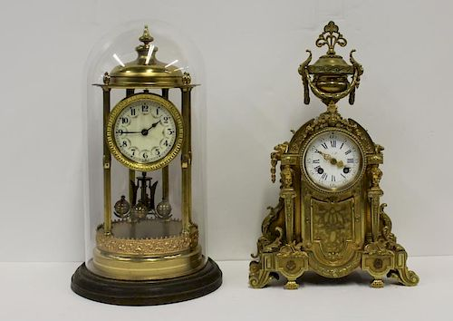 Lot of 2 Antique Clocks To Inc