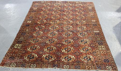 Antique Finely Woven Bokhara Carpet.