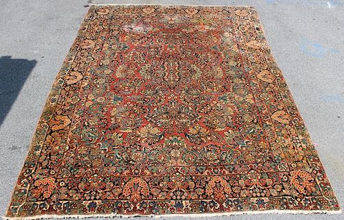 Antique Finely Woven Sarouk Carpet .