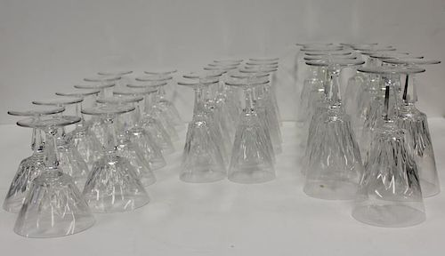 BACCARAT. Lot Of 38 Pieces Signed Stemware ,