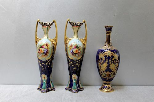 Porcelain Grouping To Inc A Pair Of English Vases