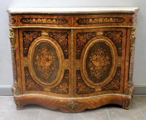Magnificent Ormalou Mounted and Marquetry Inlaid