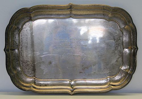 STERLING. Reed & Barton 'Windsor' Serving Tray.