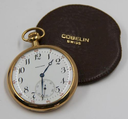 JEWELRY. 14kt Gold Waltham Pocket Watch.