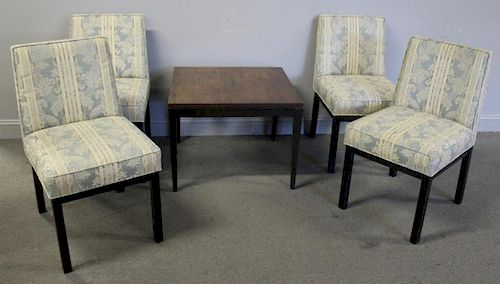 Midcentury 4 Harvey Prober Chairs & Table.
