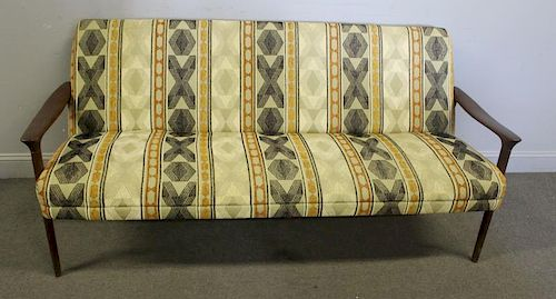 Midcentury Danish Open Arm Sofa.