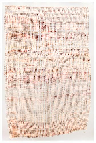 Tine Bernstorff Aagaard, Draw Through Loop - Orange Knit