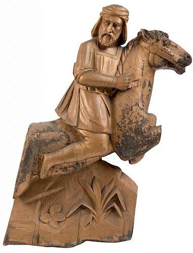 Al. G. Barnes Wild Animal Circus Wagon Gilt Carving.