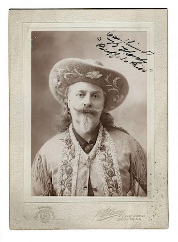 Autographed and Inscribed Cabinet Card Photo of Buffalo Bill.