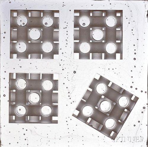 "Steven Weinberg (American, b. 1954)      Five Glass Block ""Grid"" Sculptures"