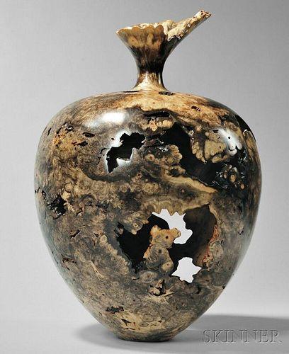 Warren Vienneau Large Wooden Vase