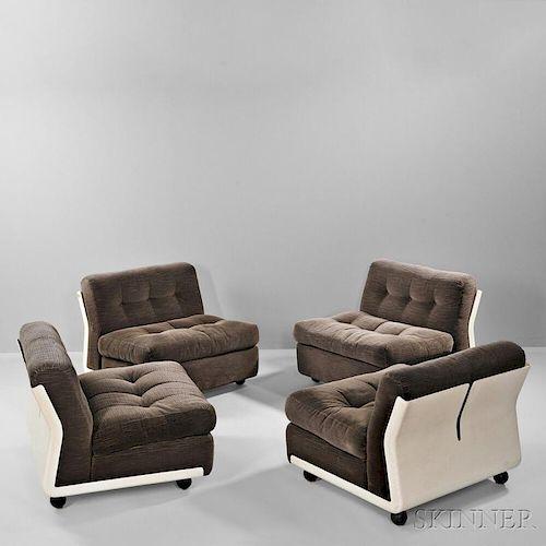 Four Mario Bellini Amanta Chairs