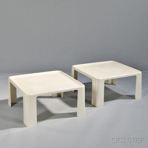 Two Mario Bellini Amanta Tables