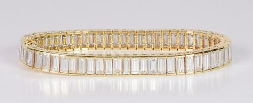 Diamond Baguette Bracelet, 17.70 cts