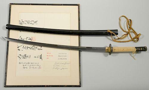 Kanbun Era Yukihiro Samurai Sword  w/ Authentication