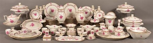 Herend Chinese Bouquet 130 Piece Dinner Service
