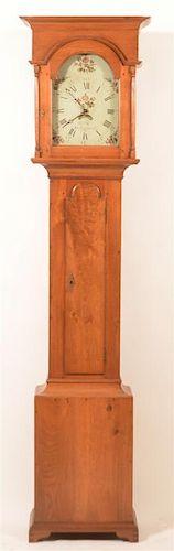 George Hoff, Lancaster Flat Top Tall Case Clock.