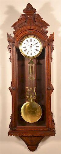 American Walnut Jewelers Regulator Clock.
