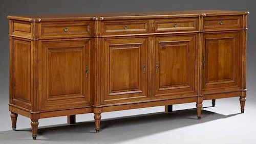 Louis XVI Style Carved Cherry Sideboard, 20th c.,