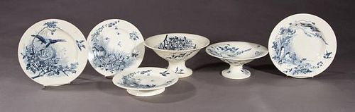 French Fifty-Nine Piece Partial Set of Ironstone D