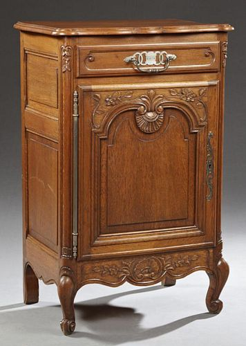 French Louis XV Style Carved Oak Confiturier, 20th