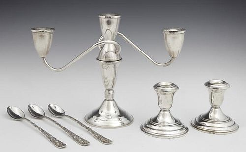 Group of Six Pieces of Sterling, consisting of a w