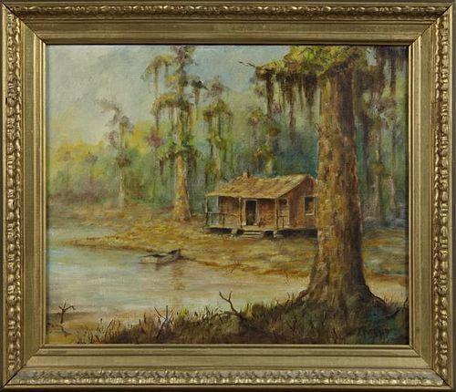 """Don Reggio (Louisiana), """"Cabin in the Cypress Swam"""