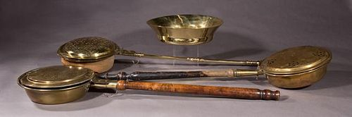 Four Pieces of English Metalware, 19th c., consist