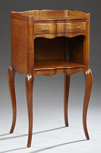 French Louis XV Style Carved Cherry Nightstand, 20