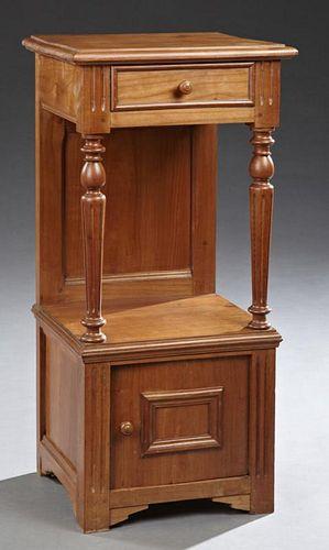 Henri II Style Carved Cherry Nightstand, c. 1900,