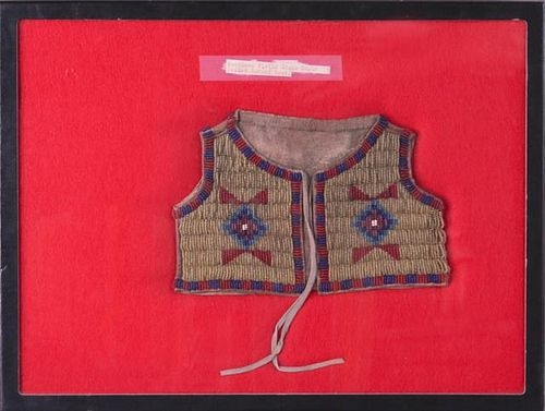 Sioux Style Infant's Beaded Vest, early 20th c., t
