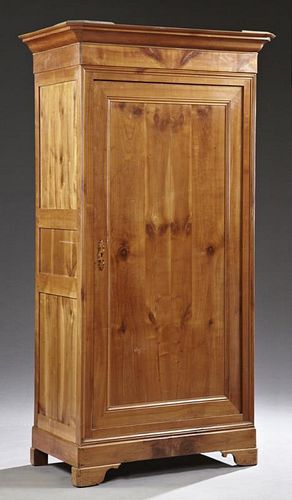 Louis Philippe Carved Cherry Armoire, 19th c., the
