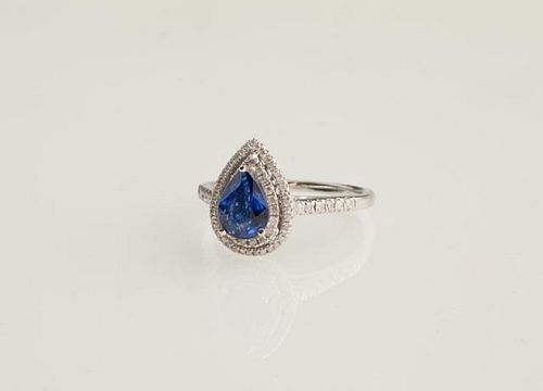 Lady's 14K White Gold Dinner Ring, with 1.56 carat