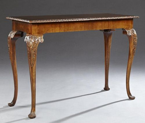 Georgian Style Carved Mahogany Console Table, 20th