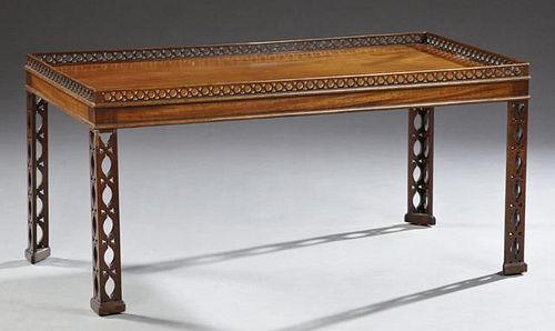Contemporary Mahogany Cocktail Table in the Chippe