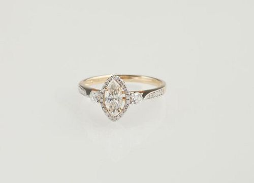 Lady's 14K Yellow Gold Dinner Ring, with a .52 car