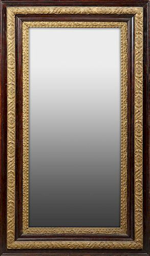 American Faux Bois and Gesso Overmantle Mirror, c.