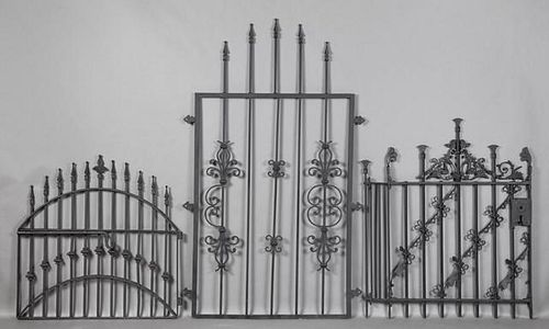 Three Pieces of American Wrought Iron, 19th and 20