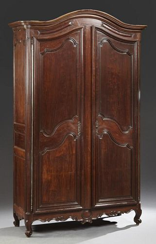 Louis XV Style Carved Mahogany Double Door Armoire