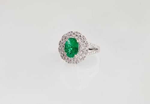 Lady's Platinum Dinner Ring, with a 1.59 carat ova