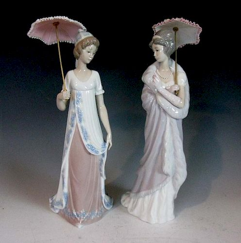 Lladro Viennese Lady 5322 Milanese Lady 5324 By Rare Era Formerly