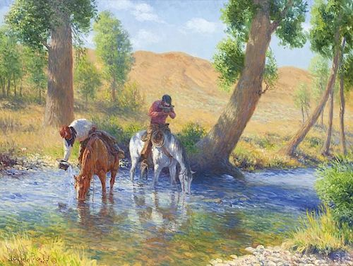 Clark Kelley Price | Hot Day on Cottonwood Creek