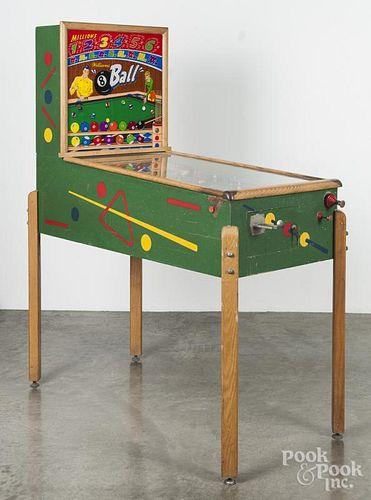 Williams Manufacturing Co. 8 Ball pinball machine, 54'' h., 50'' l.