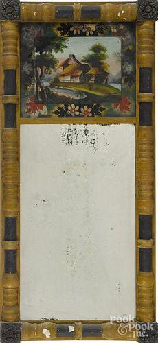 Sheraton painted mirror, ca. 1835, 34'' x 15 3/4''.